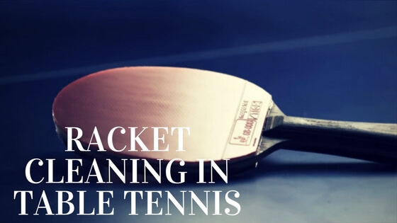 Cleaning a table tennis paddle